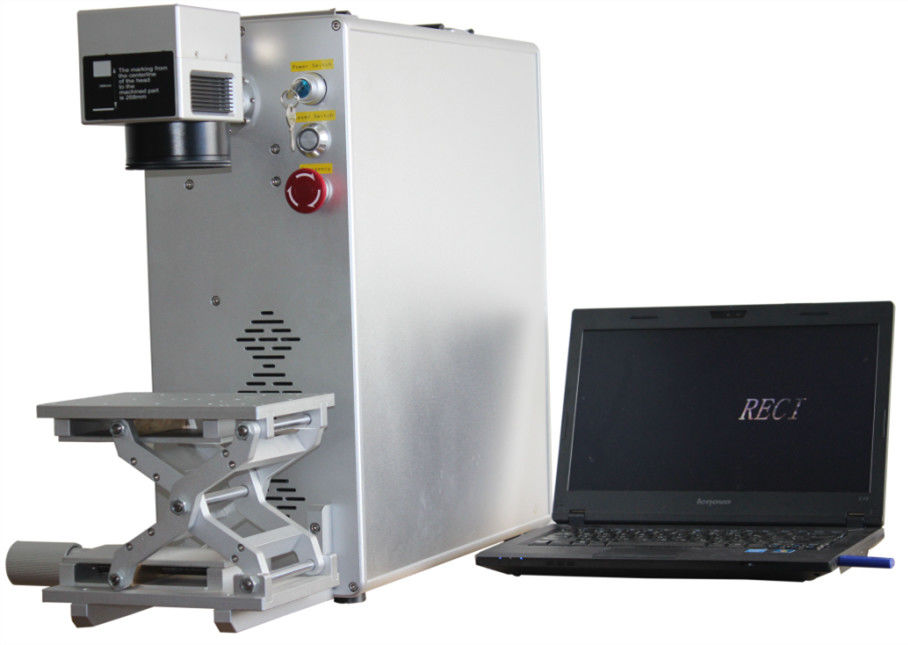 Professional Industrial Fiber Laser Marking Machine With Aluminum Up Down Platform